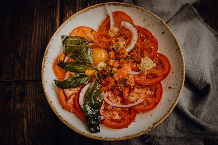 Vorspeisen Marinierter Tomatensalat - Pizzeria Freudenstadt