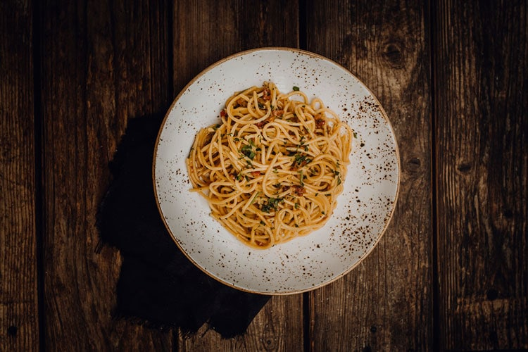 Pasta Spaghetti alla Carbonara Pizzeria Freudenstadt