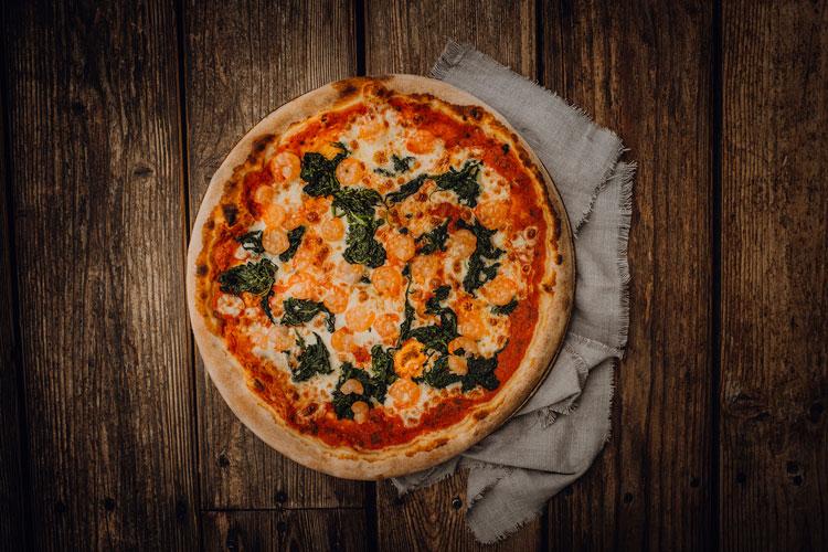 Pizza Spinaci e Gamberetti - Pizzeria Freudenstadt